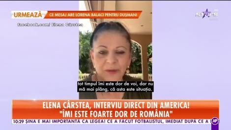 Elena Cârstea, declaraţii direct din America! Artista dezvăluie cu ce probleme de sănătate s-a luptat!