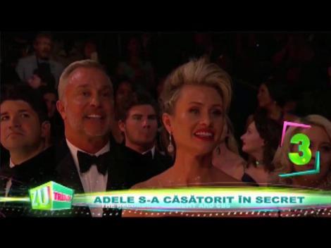Adele s-a căsătorit în secret! Artista s-a dat de gol la Gala Premiilor Grammy. Nu a mai putut să dea înapoi